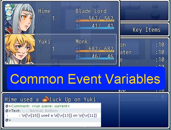 Common Event Variables – 姫HimeWorks