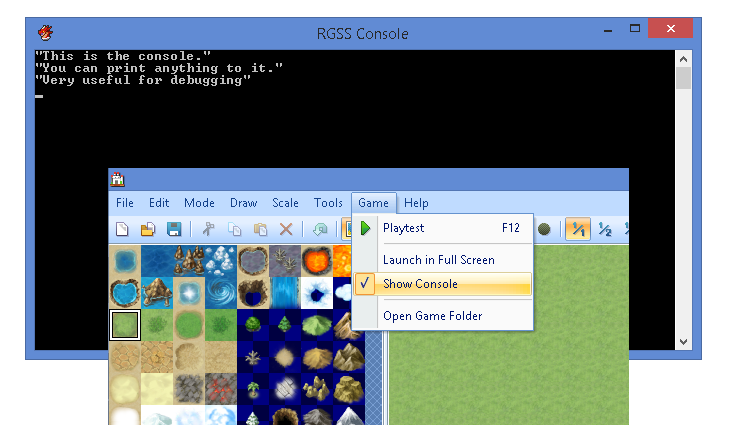 Enabling the RPG Maker Console – 姫HimeWorks
