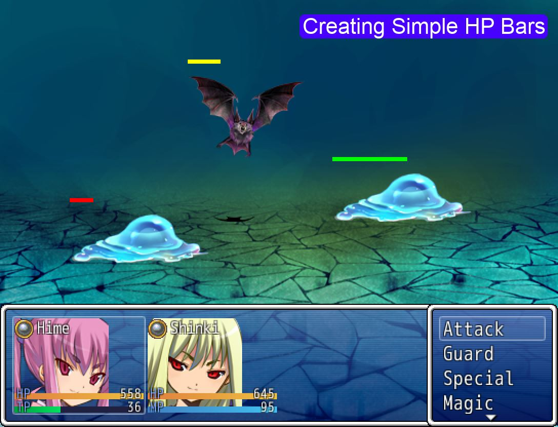 Creating Simple HP Bars – 姫HimeWorks