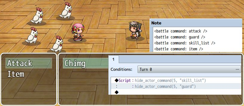 Actor Battle Commands – 姫HimeWorks